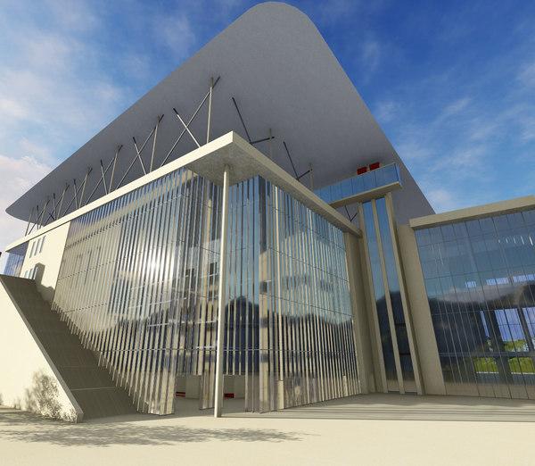 st niarchos foundation cultural center model