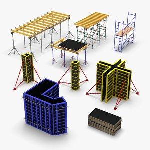 3D model formworks constructions