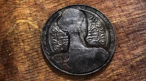 3D coin anatomy rusty