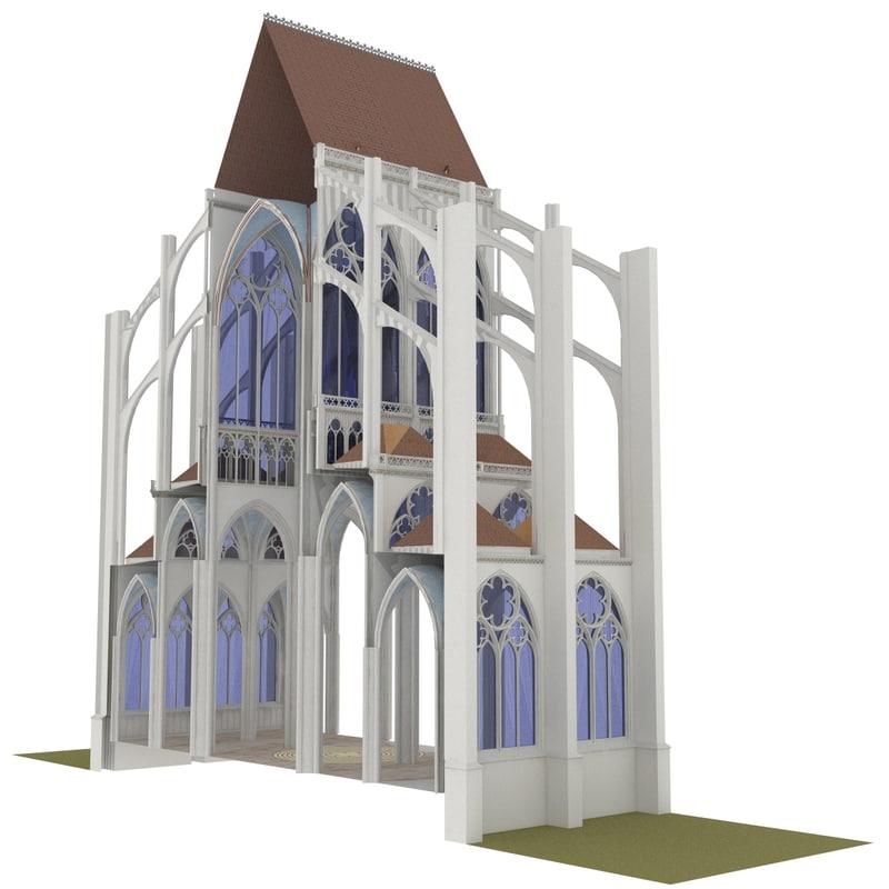 classic gothic basilic section 3D model