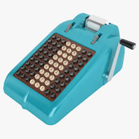 3D retro adding machine