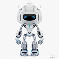 cute robot friendly 3D model