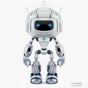 cute robot friendly 3D model