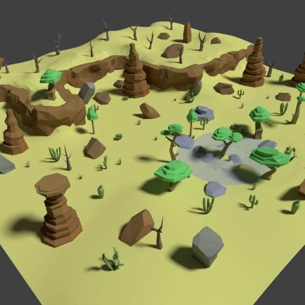 desert assets pack model