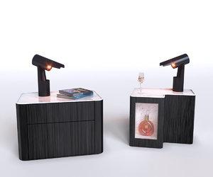 3D table bed bedside