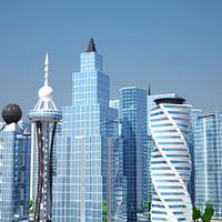 modern city 3D