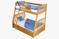 3D bunk bed silvanus model