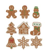 3D gingerbread cookie set