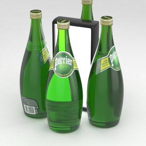 perrier water bottle 3D