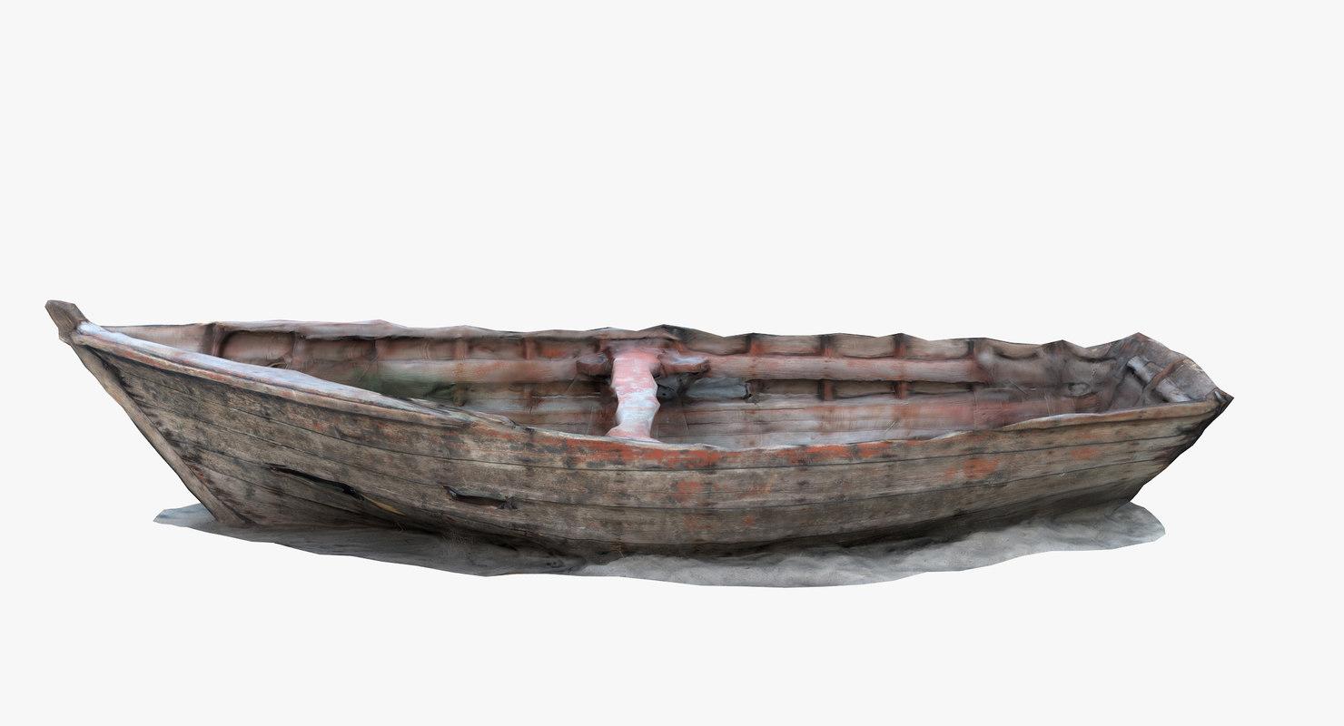 abandoned skiff 3D model
