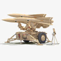 mim-23 hawk desert color 3D model
