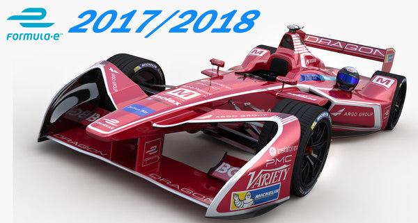 3D dragon racing formula e