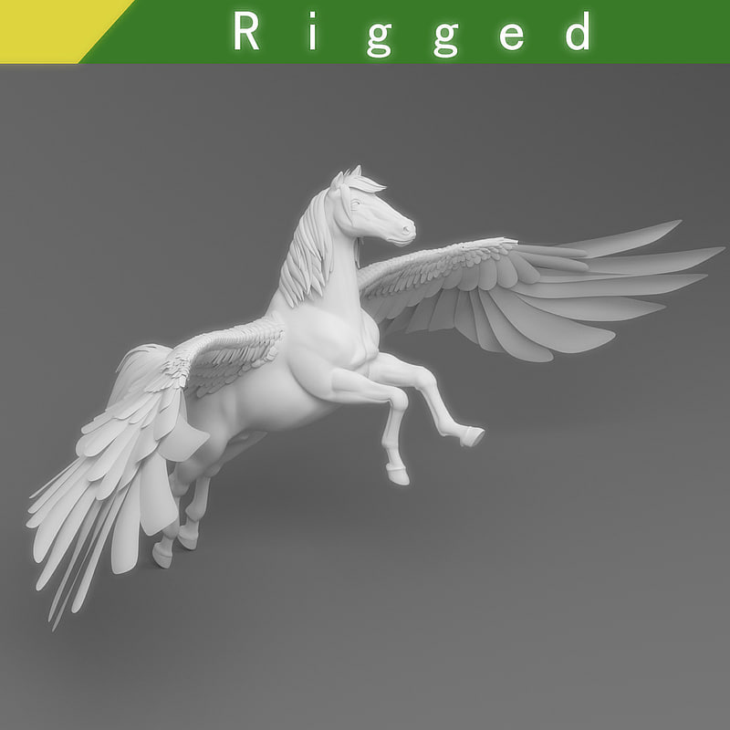 3D pegasus mythological fantasy model