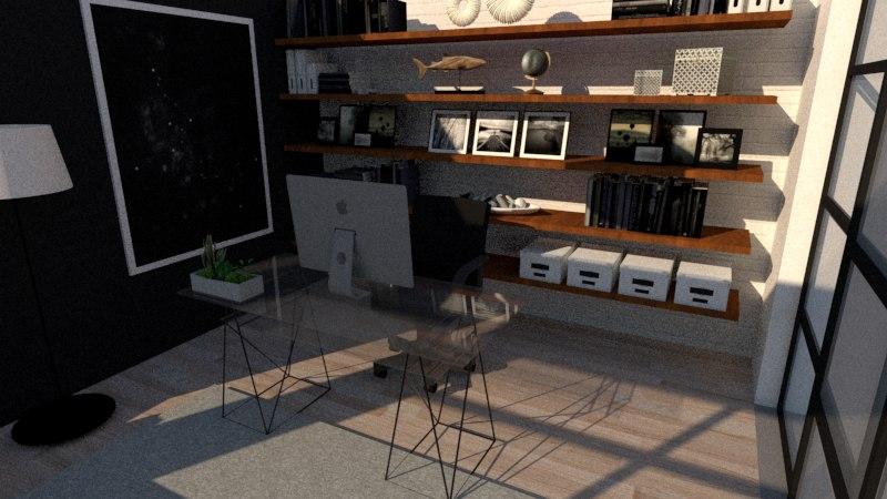 modern office design 3D model