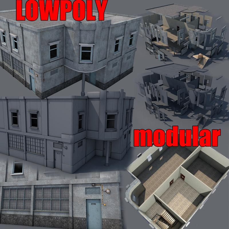 3D modular building games model