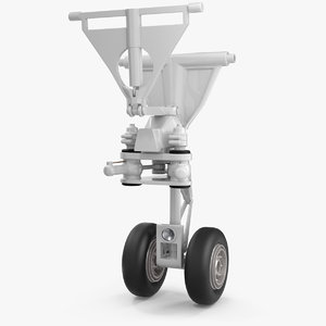 3D aircraft jet landing gear model
