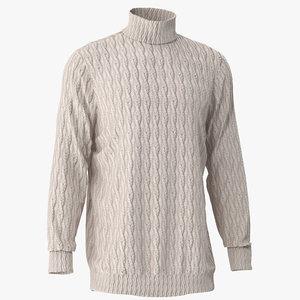 3D woven sweater