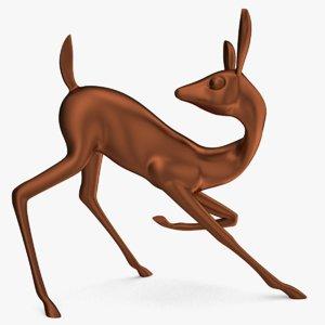figurine poe deer model
