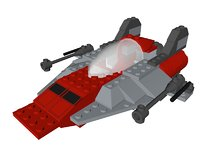 3D model lego a-wing fighter