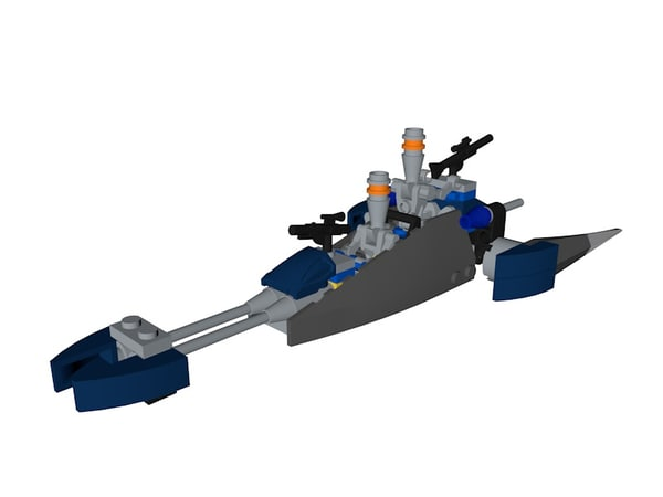 lego assassin droid ship 3D model