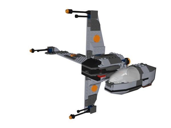 3D lego b-wing