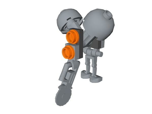 lego star wars buzz 3D model