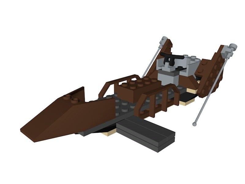 3D model lego star wars desert