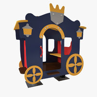 3D playground spring carriage model