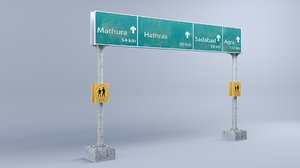 3D highway signs