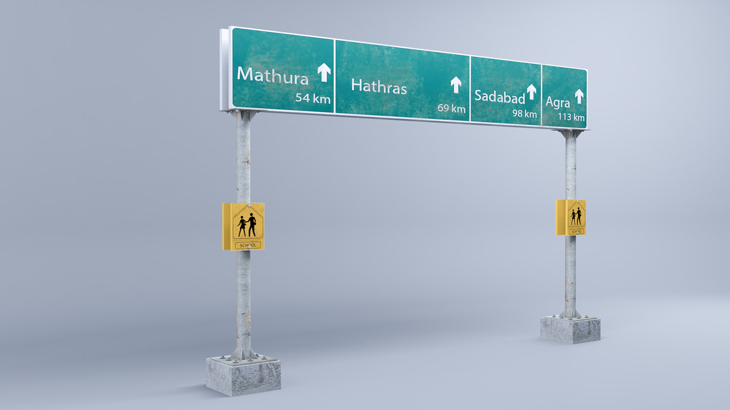 3D highway signs