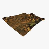 3D terrain 4 model