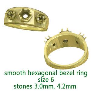 hexagonal ring 3D model