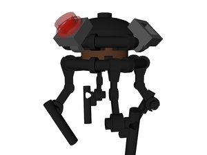 lego star wars droid 3D model