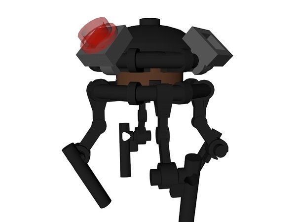 lego star wars droid 3D model