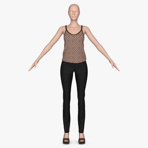 pants blouses 3D model