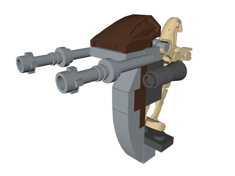 lego star wars droid model