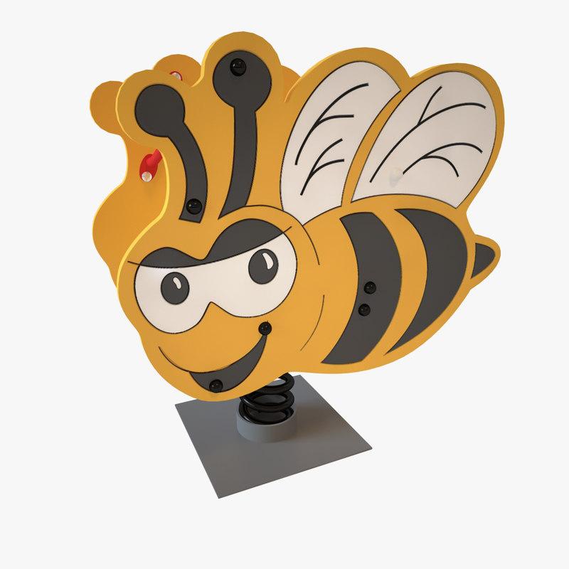 3D playground spring bee