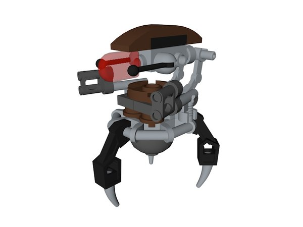 lego star wars droidekas 3D model