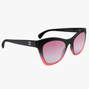 3D model butterfly polarized red sunglasses