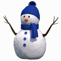 cute snow man 3D model