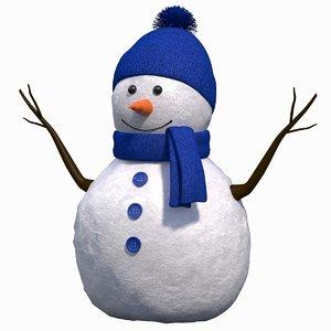 cute snow man 3D model