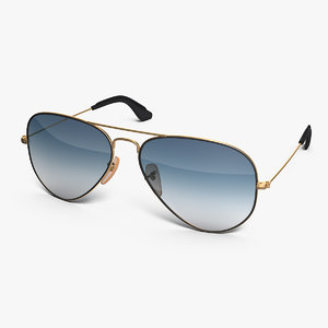 3D model classic sunglasses gradient light