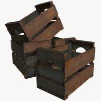 wooden crate wood 3D model