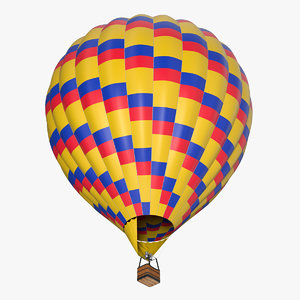 3D colorful hot air balloon model