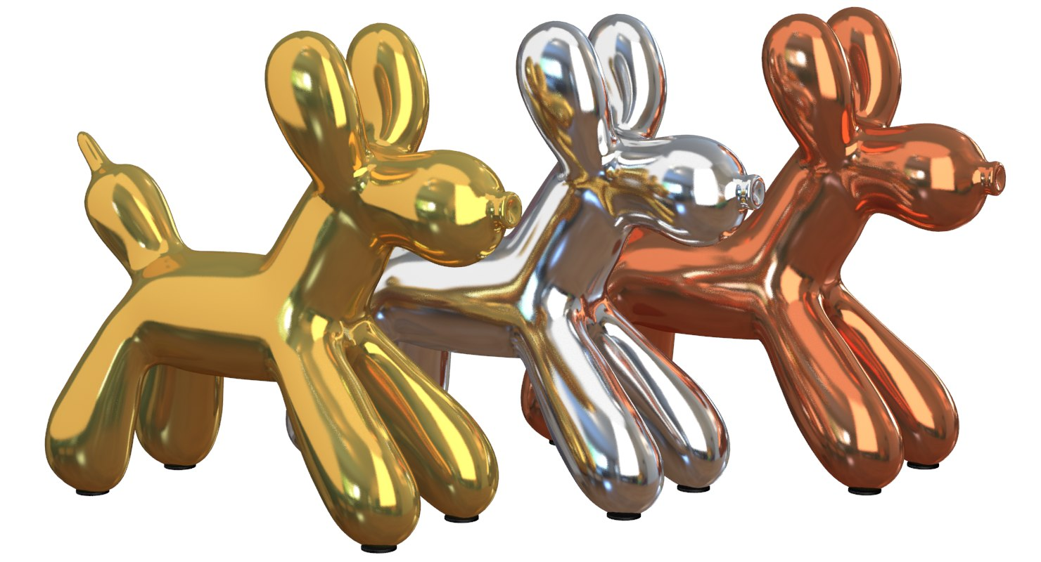 modern balloon dog 3D model