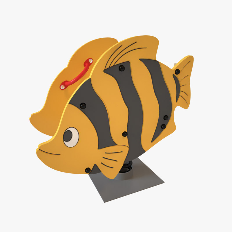 3D model playground spring fish