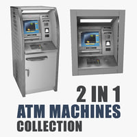 atm machines 3D model
