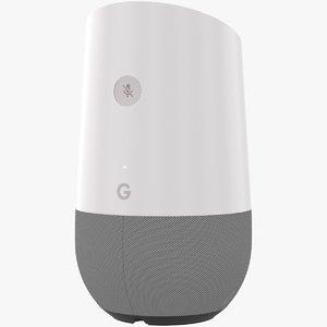 google home speaker 3D model