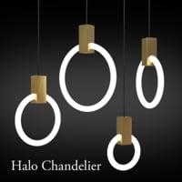 halo chandelier 3D model
