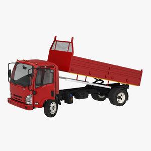 3D model dropside truck generic rigged